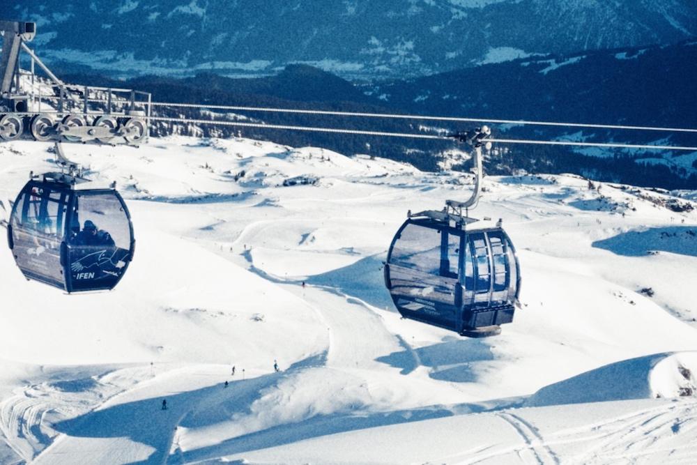Gondel Skigebiet Kleinwalsertal Ifen Oberstdorf