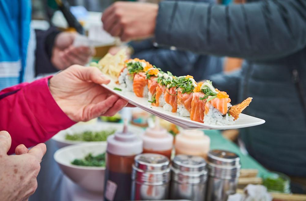 Bei den White Pearl Mountain Days gibt's auch Sushi