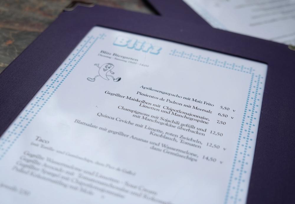 Blitz Restaurant Speisekarte