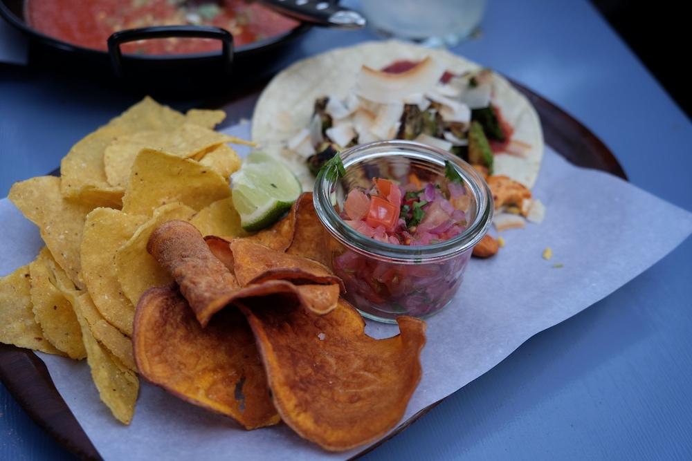 Tacos im Blitz Restaurant Biergarten