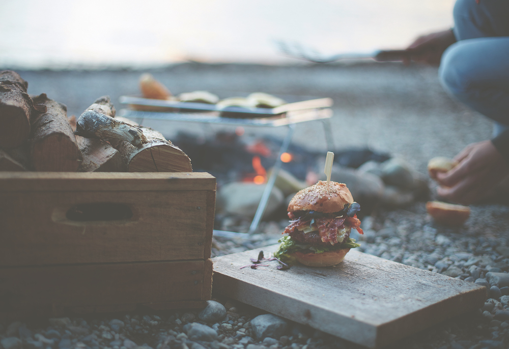 Cheeseburger aus dem Buch The Great Outdoors