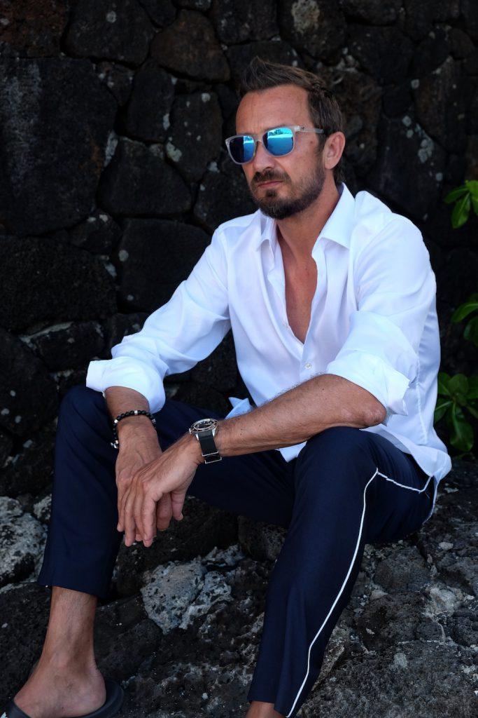 Sommeroutfit mit Maui Jim Sonnenbrille