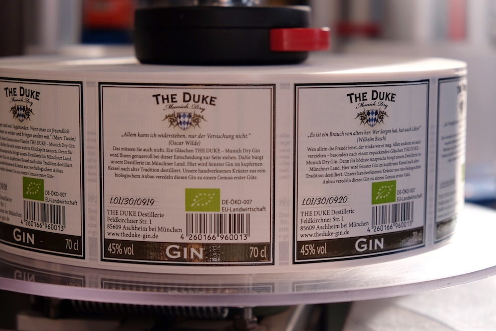 The Duke Gin Etiketten