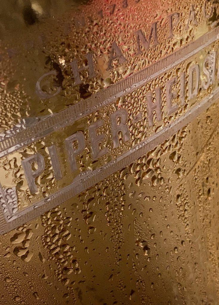 Champagner Piper Heidsieck Detail