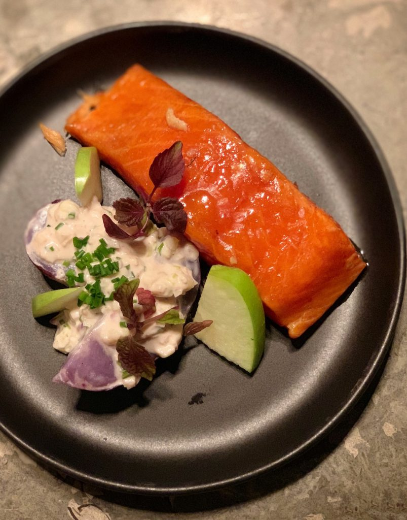 Hot smoked Lachs