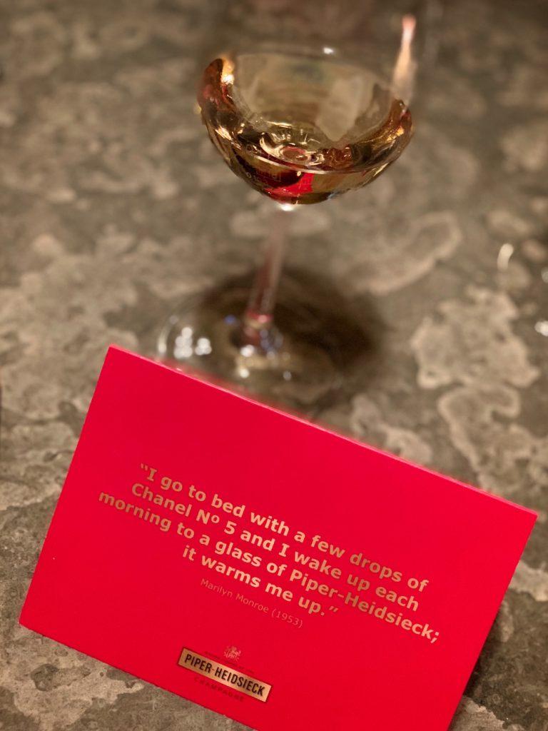 Champagner Piper Heidsieck Marilyn Monroe