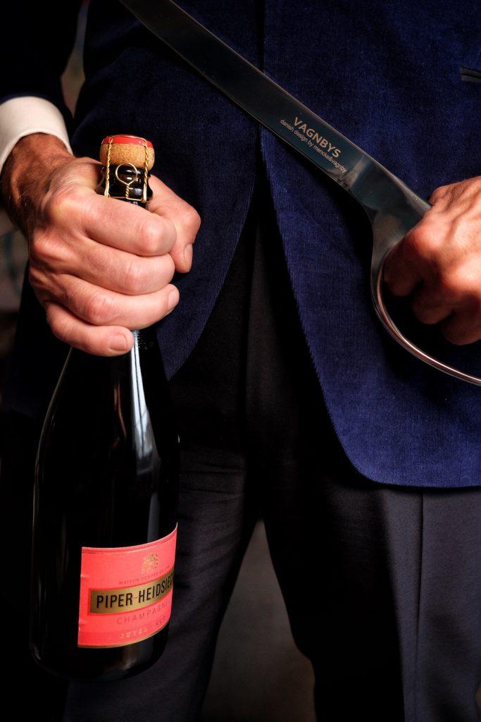 Champagner Säbel Vagnbys Edelstahl