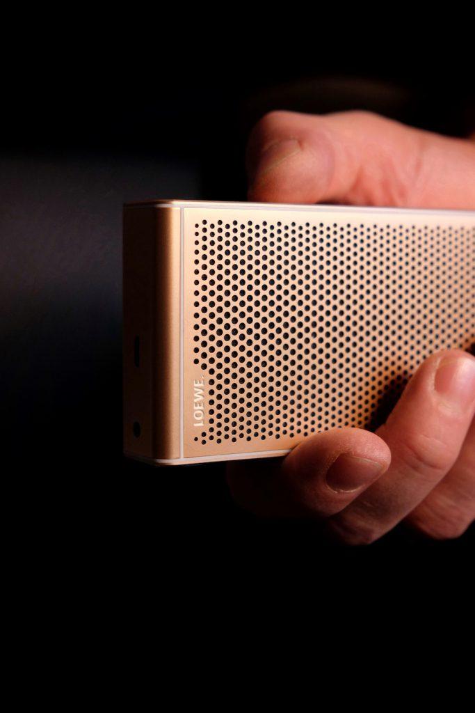 Loewe Klang m1 Bluetooth Lautsprecher rosegold Design