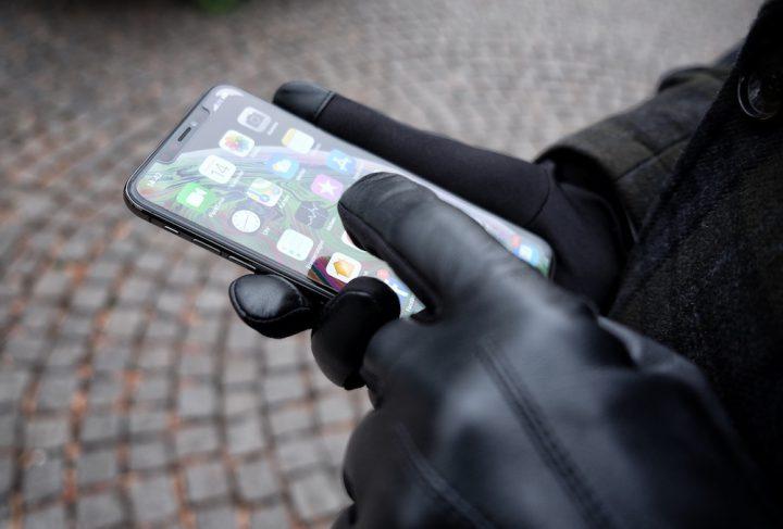Otto Kessler schwarze Touch Screen Handschuhe