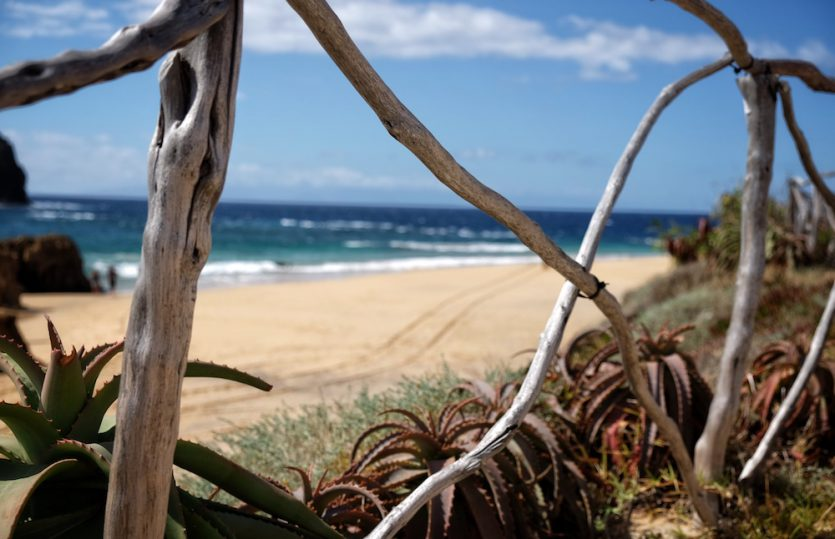 Am Strand vom Columbus: Porto Santo
