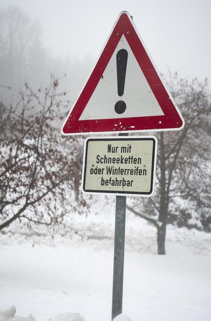 Schwarzwald Winter Challenge Schild