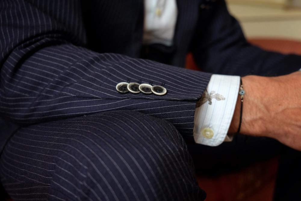 Seersucker Stoff Anzug Dressler