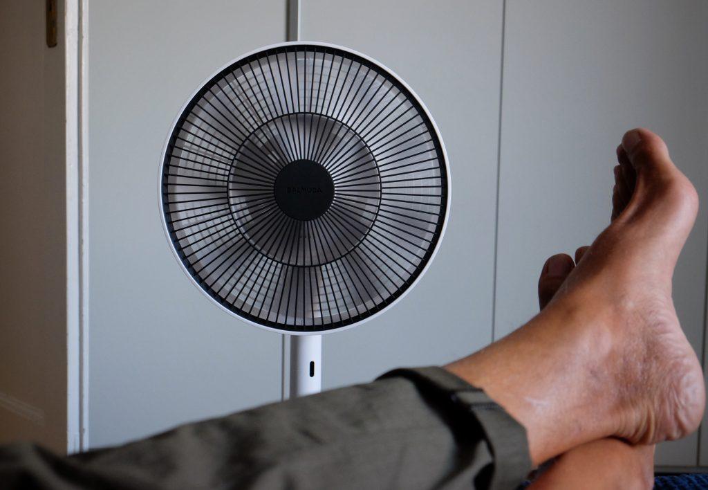 Balmuda Green Fan Ventilator Schlafzimmer