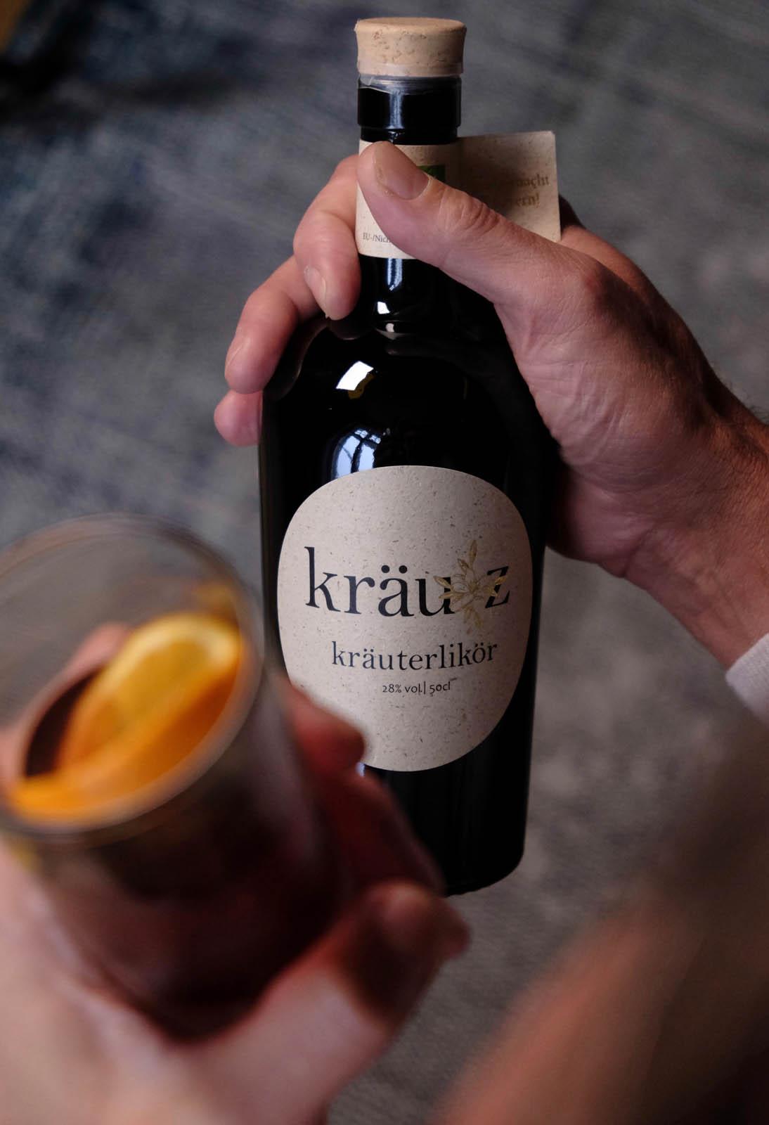 Kraeutz Kraeuterlikoer Flasche