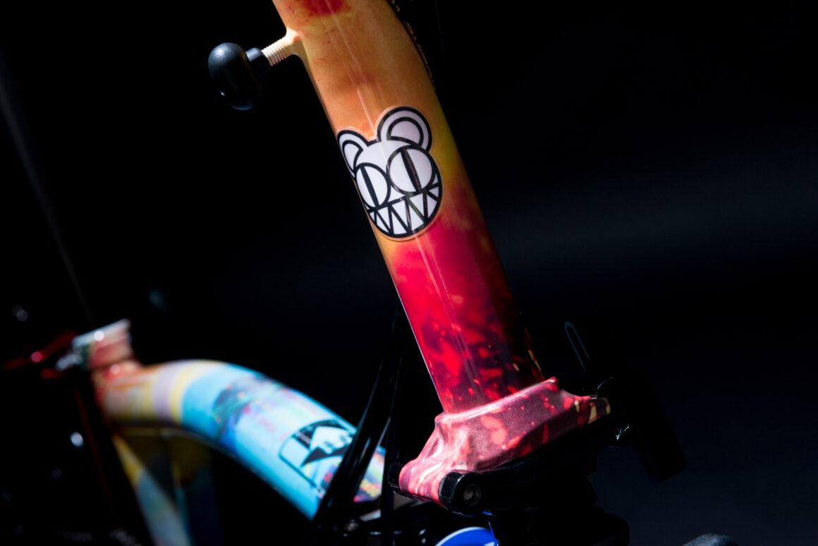 Radiohead Brompton Bike Detail