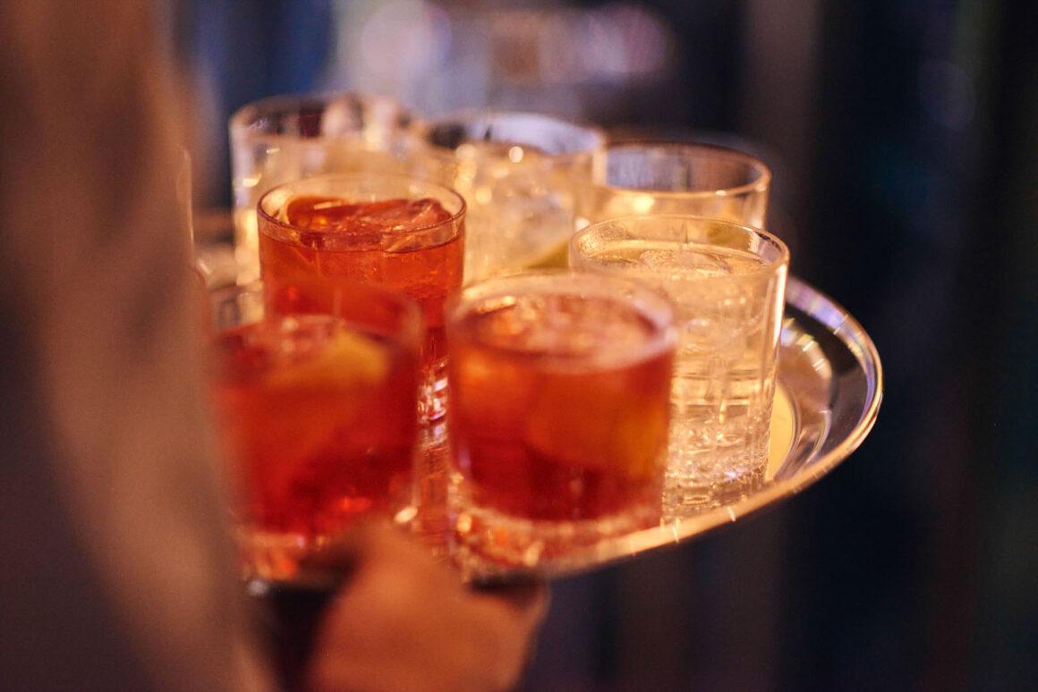 Juliet Rose Bar Drinks Tablett